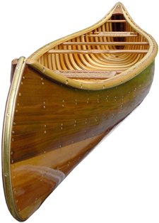 9 foot Red or White Cedar Display Canoe front