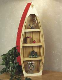 Boat Curio Shelf Plans